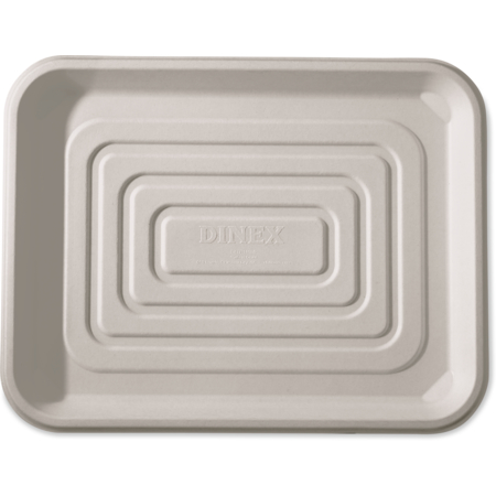"""DXTR1418D42 - Bagasse Disposable Tray 14"""" x 18"""" (100/cs) - Ivory"""