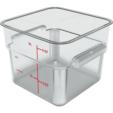 1195207 - Squares Polycarbonate Food Storage Container 6 qt - Clear