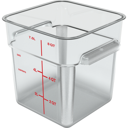 1195307 - Squares Polycarbonate Food Storage Container 8 qt - Clear