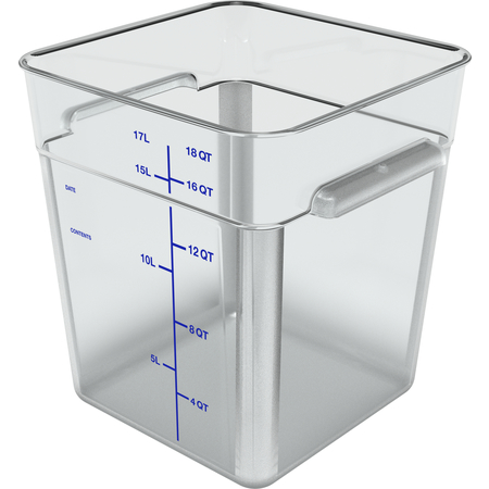 1195507 - Squares Polycarbonate Food Storage Container 18 qt - Clear