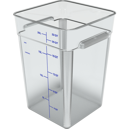 1195607 - Squares Polycarbonate Food Storage Container 22 qt - Clear