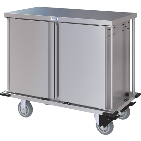 DXPTQC1T2D10 - Dinex® Totally Quiet Compact Meal Delivery Cart - Double Doors - 1 Tray Per Slide 10 Trays (1ea) - Stainless Steel