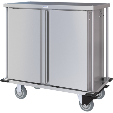 DXPTQC1T2D12 - Dinex® Totally Quiet Compact Meal Delivery Cart - Double Doors - 1 Tray Per Slide 12 Trays (1ea) - Stainless Steel