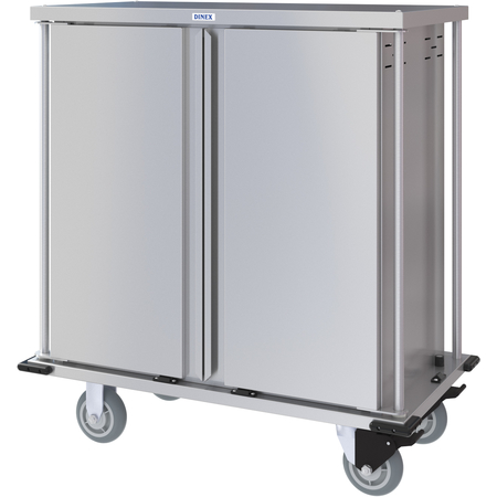 DXPTQC1T2D14 - Dinex® Totally Quiet Compact Meal Delivery Cart - Double Doors - 1 Tray Per Slide 14 Trays (1ea) - Stainless Steel