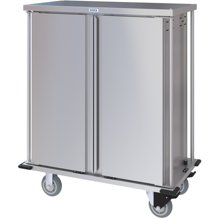 DXPTQC1T2D16 - Dinex® Totally Quiet Compact Meal Delivery Cart - Double Doors - 1 Tray Per Slide 16 Trays (1ea) - Stainless Steel