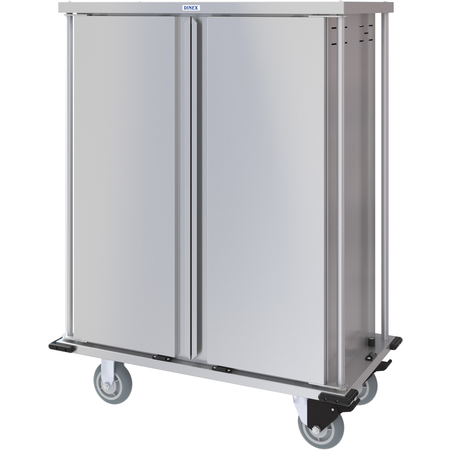 DXPTQC1T2D18 - Dinex® Totally Quiet Compact Meal Delivery Cart - Double Doors - 1 Tray Per Slide 18 Trays (1ea) - Stainless Steel