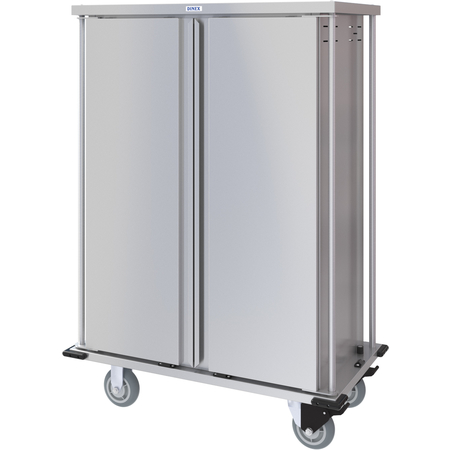 DXPTQC1T2D20 - Dinex® Totally Quiet Compact Meal Delivery Cart - Double Doors - 1 Tray Per Slide 20 Trays (1ea) - Stainless Steel