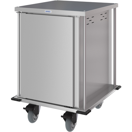 DXPTQC2T1D12 - Dinex® Totally Quiet Compact Meal Delivery Cart - Single Door - 2 Trays Per Slide 12 Trays (1ea) - Stainless Steel