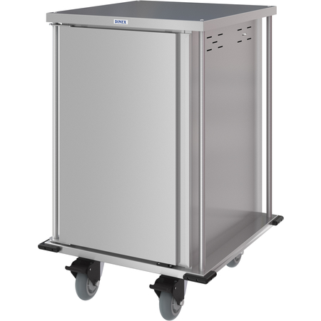 DXPTQC2T1D14 - Dinex® Totally Quiet Compact Meal Delivery Cart - Single Door - 2 Trays Per Slide 14 Trays (1ea) - Stainless Steel