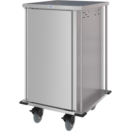 DXPTQC2T1D16 - Dinex® Totally Quiet Compact Meal Delivery Cart - Single Door - 2 Trays Per Slide 16 Trays (1ea) - Stainless Steel