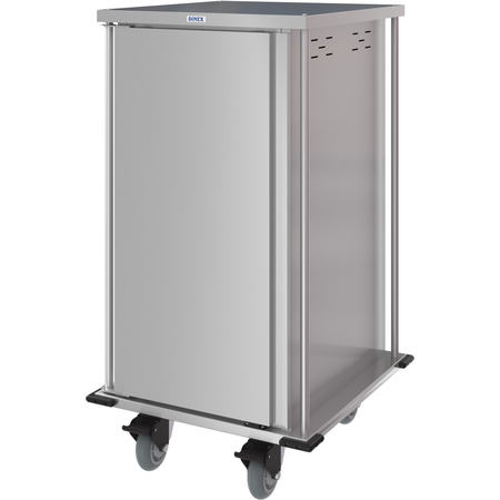 DXPTQC2T1D18 - Dinex® Totally Quiet Compact Meal Delivery Cart - Single Door - 2 Trays Per Slide 18 Trays (1ea) - Stainless Steel