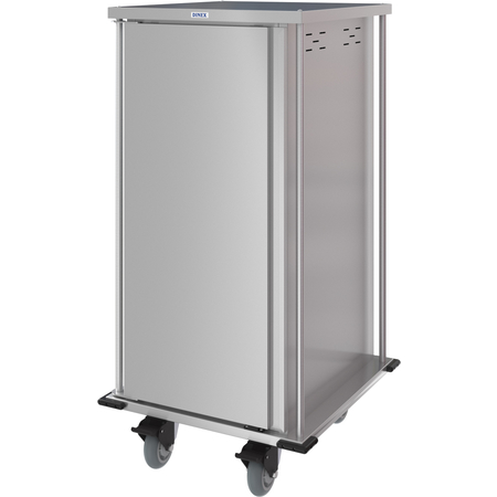 DXPTQC2T1D20 - Dinex® Totally Quiet Compact Meal Delivery Cart - Single Door - 2 Trays Per Slide 20 Trays (1ea) - Stainless Steel