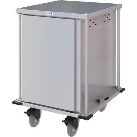 DXPTQC2T1DPT12 - Dinex® Totally Quiet Compact Meal Delivery Cart - Single Door - 2 Trays Per Slide 12 Trays (1ea) - Stainless Steel