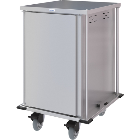 DXPTQC2T1DPT14 - Dinex® Totally Quiet Compact Meal Delivery Cart - Single Door - 2 Trays Per Slide 14 Trays (1ea) - Stainless Steel