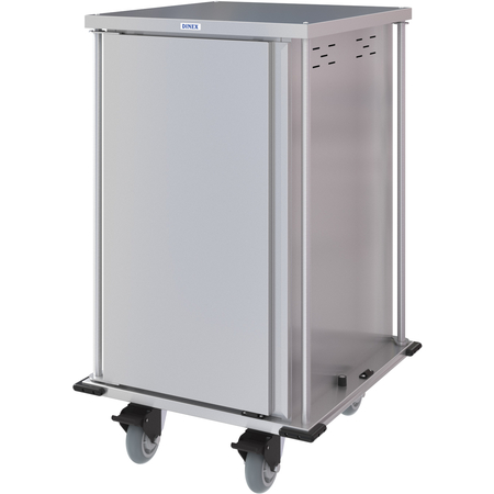 DXPTQC2T1DPT16 - Dinex® Totally Quiet Compact Meal Delivery Cart - Single Door - 2 Trays Per Slide 16 Trays (1ea) - Stainless Steel