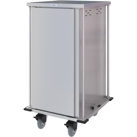 DXPTQC2T1DPT18 - Dinex® Totally Quiet Compact Meal Delivery Cart - Single Door - 2 Trays Per Slide 18 Trays (1ea) - Stainless Steel