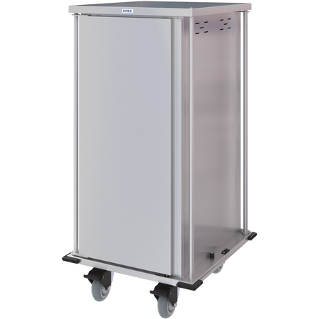 DXPTQC2T1DPT20 - Dinex® Totally Quiet Compact Meal Delivery Cart - Single Door - 2 Trays Per Slide 20 Trays (1ea) - Stainless Steel