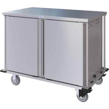 DXPTQC2T2DPT24 - Dinex® Totally Quiet Compact Meal Delivery Cart - Double Doors - 2 Trays Per Slide 24 Trays (1ea) - Stainless Steel