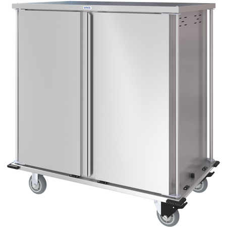 DXPTQC2T2DPT36 - Dinex® Totally Quiet Compact Meal Delivery Cart - Double Doors - 2 Trays Per Slide 36 Trays (1ea) - Stainless Steel