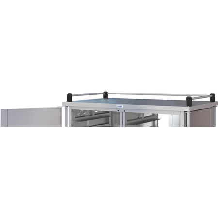 DXPTQTOPR31T2D3 - Dinex® Top Rail for Totally Quiet Compact Carts - 3 Sides (1ea) - Stainless Steel