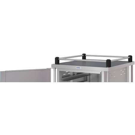 DXPTQTOPR41T2D - Dinex® Top Rail for Totally Quiet Compact Carts - 4 Sides (1ea) - Stainless Steel