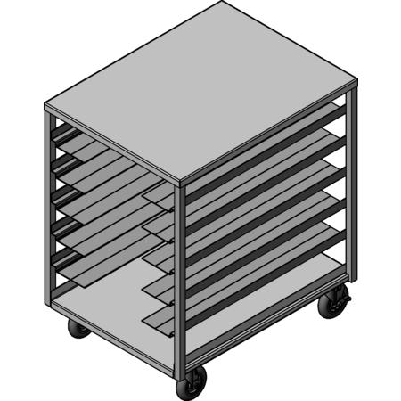 DXPDHOR12UP - Universal Tray Cart 12 Trays - Aluminum