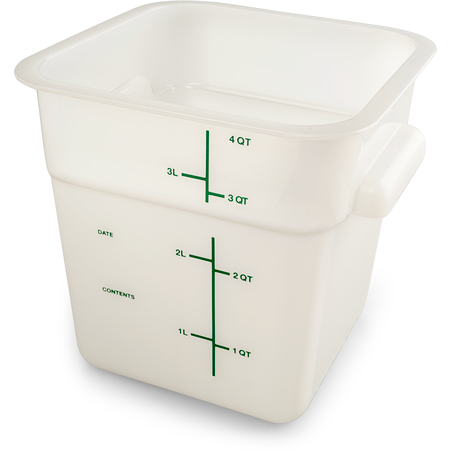11961PE02 - Squares Polyethylene Food Storage Container 4 qt - White