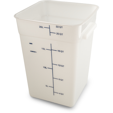 11966PE02 - Squares Polyethylene Food Storage Container 22 qt - White