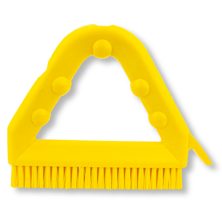 """41323EC04 - 9"""" POLY TILE & GROUT BRUSH YLW"""