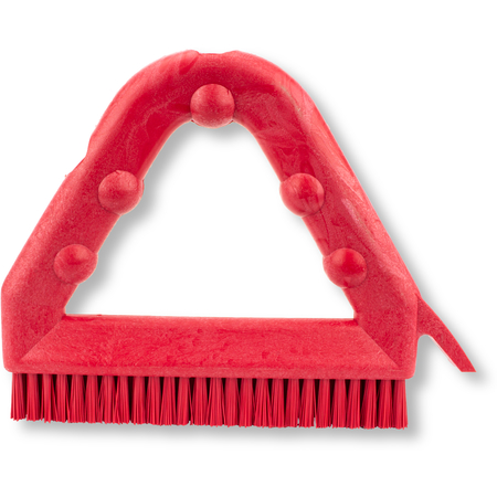 """41323EC05 - 9"""" POLY TILE & GROUT BRUSH RED"""