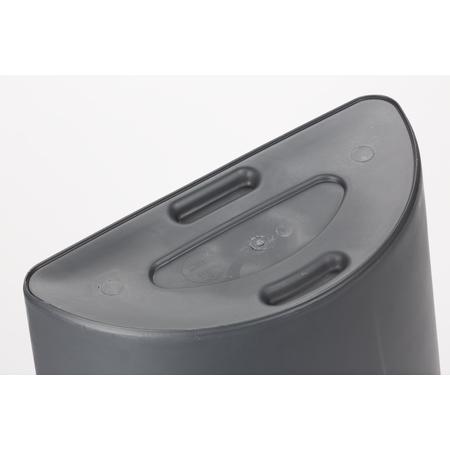 34302123 - Centurian™ Half Round Waste Container Trash Can 21 Gallon - Gray