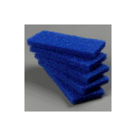 "4072500 - Medium Scrub Pad 10"" x 4-5/8"" x 1"" (5ea) - Blue"