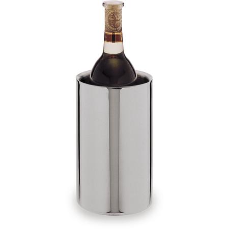 "609143 - Double Wall Wine Cooler, Satin Finsh w/Mirror Finish Rim 4-3/4"""