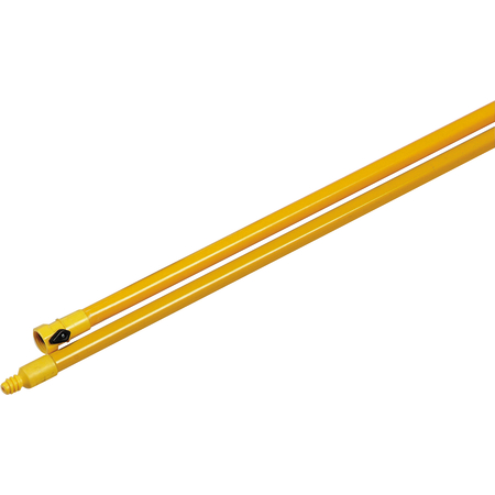 "4024104 - 60"" Fiberglass Flo-Thru Handle with standard Thread and Shut-Off Valve 60"" - Yellow"