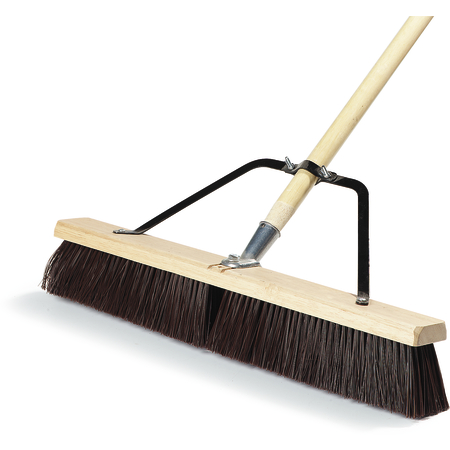 "367366TC24 - 24"" Medium Sweep w/Stiff Polypropylene Bristles Center & Softer Border 24"" - Black"