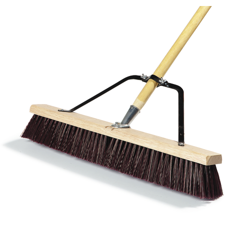 "367378TC00 - 24"" Rough Floor Sweep w/Stiff Maroon Plastic Bristles 24"" - Maroon"