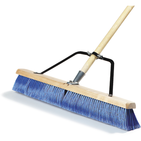 "367382TC14 - 24"" Fine Sweep w/Flagged Blue Plastic Bristles - Blue"