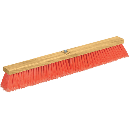 "3610222424 - Flo-Pac® Juno Style Polypropylene Sweep w/Heavy Polypropylene Center 24"" - Orange"