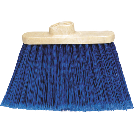 "3687314 - Flo-Pac® Wide Duo Sweep® Light Industrial Head (only) Broom 4"" Bristle Trim - Blue"