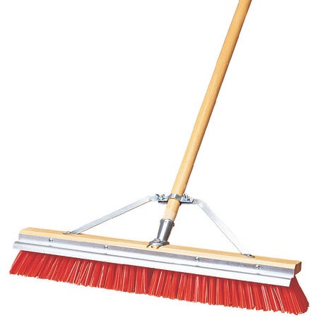 "36952424 - Flo-Pac® Polypropylene Sweep With Steel Scraper Blade 24"" - Orange"