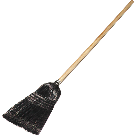 "4168003 - Maid/Parlor Broom 55"" / 18 lb. - Black"