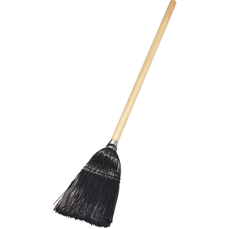 "4168303 - Toy/Lobby Broom 40"" / 8 lb. - Black"