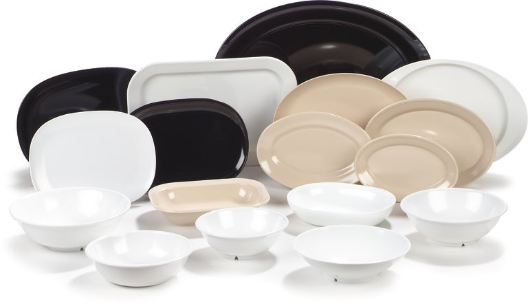Melamine Dinnerware and Serving Pieces