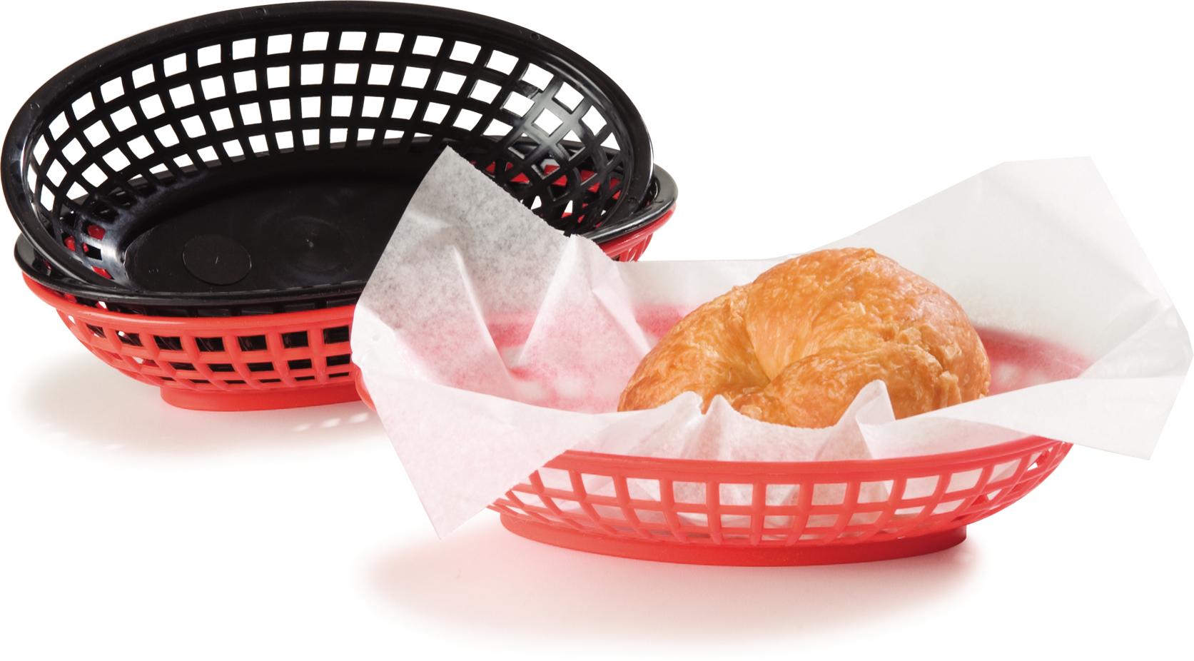 Bread And Bun Basket Oval Basket 9-1/4 x 6 - Black