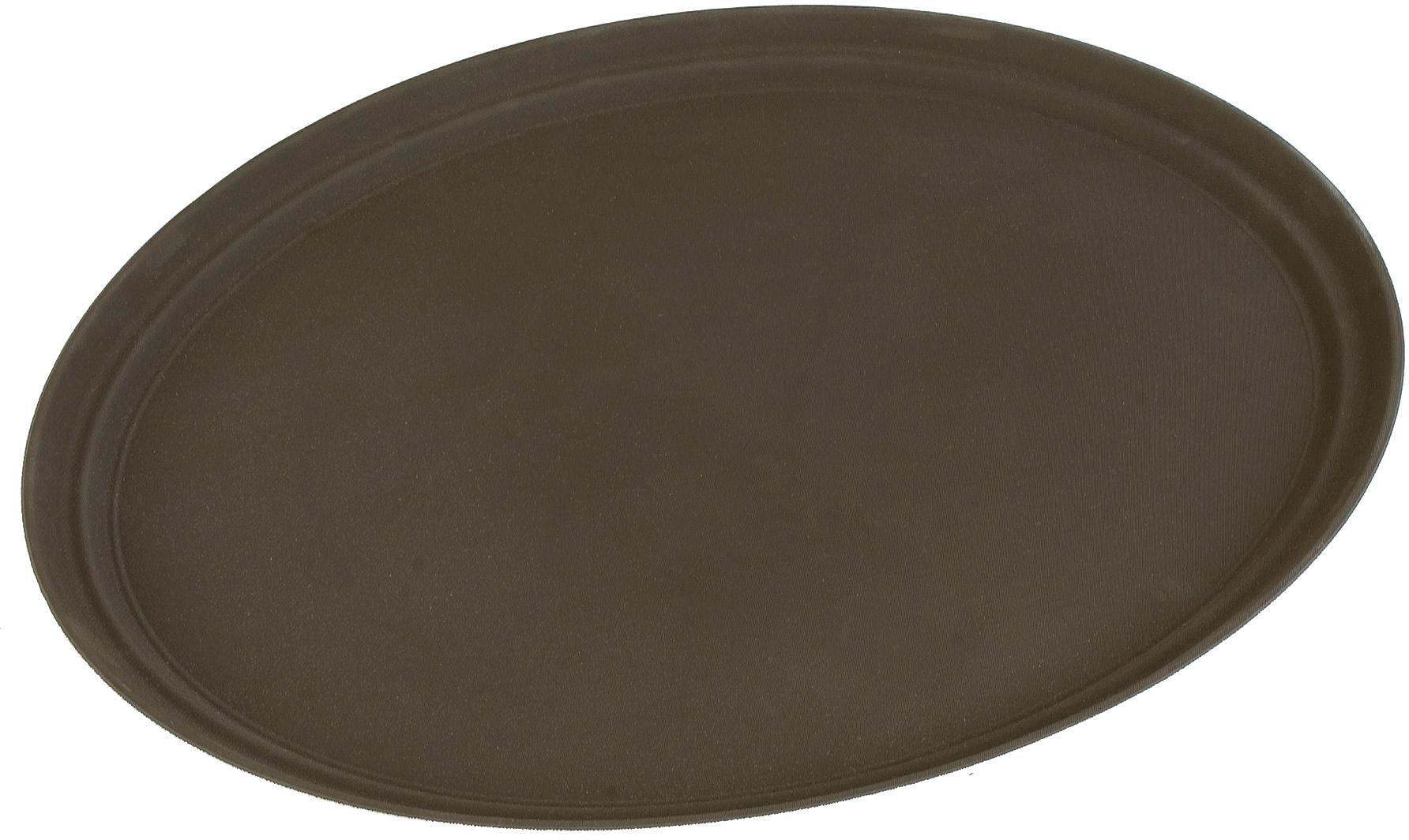 Truebasics Oval Grip Tray 27 x 22 - Toffee Tan