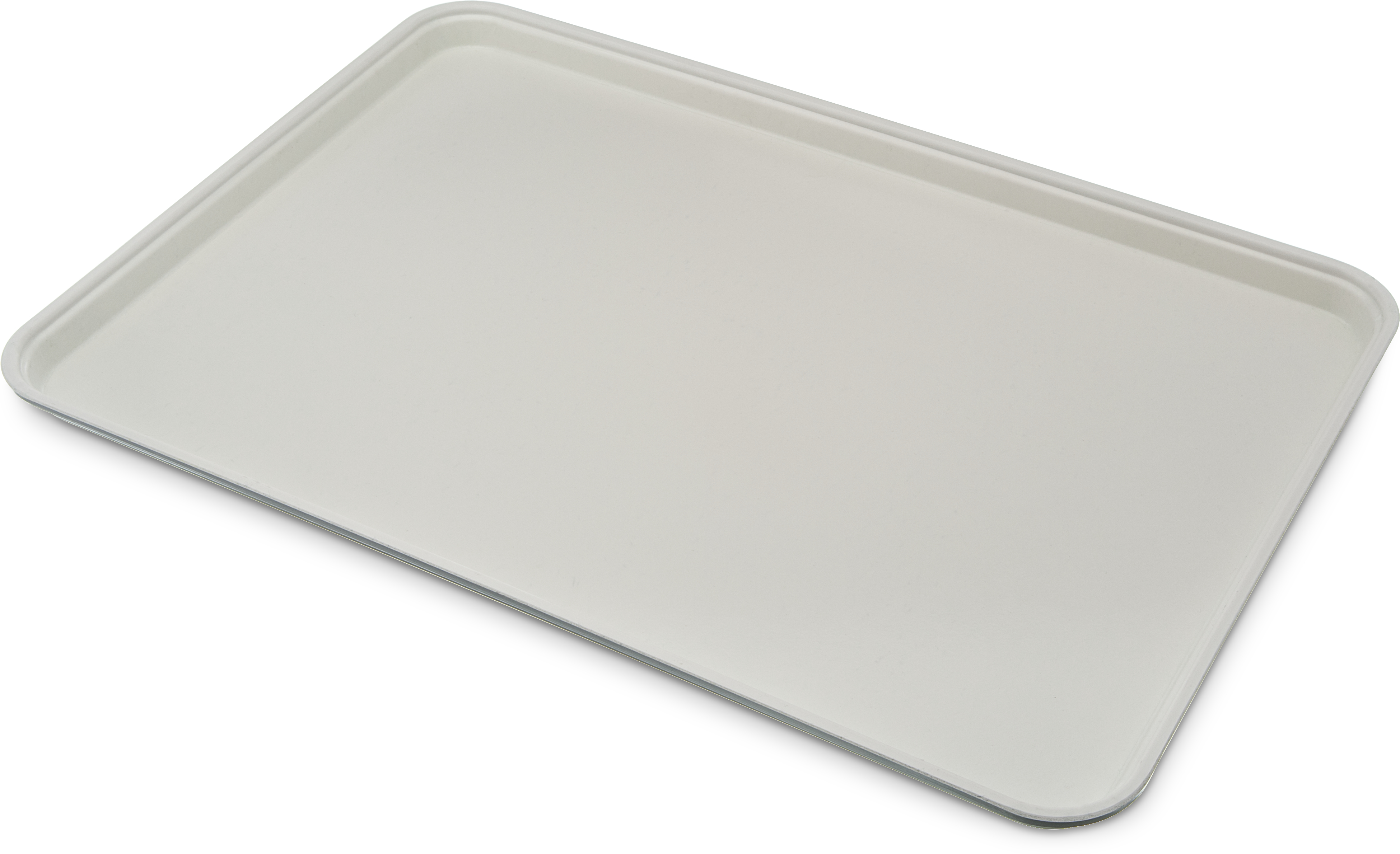 Glasteel Tray Display/Bakery 17.9 x 25.6 - Bone White
