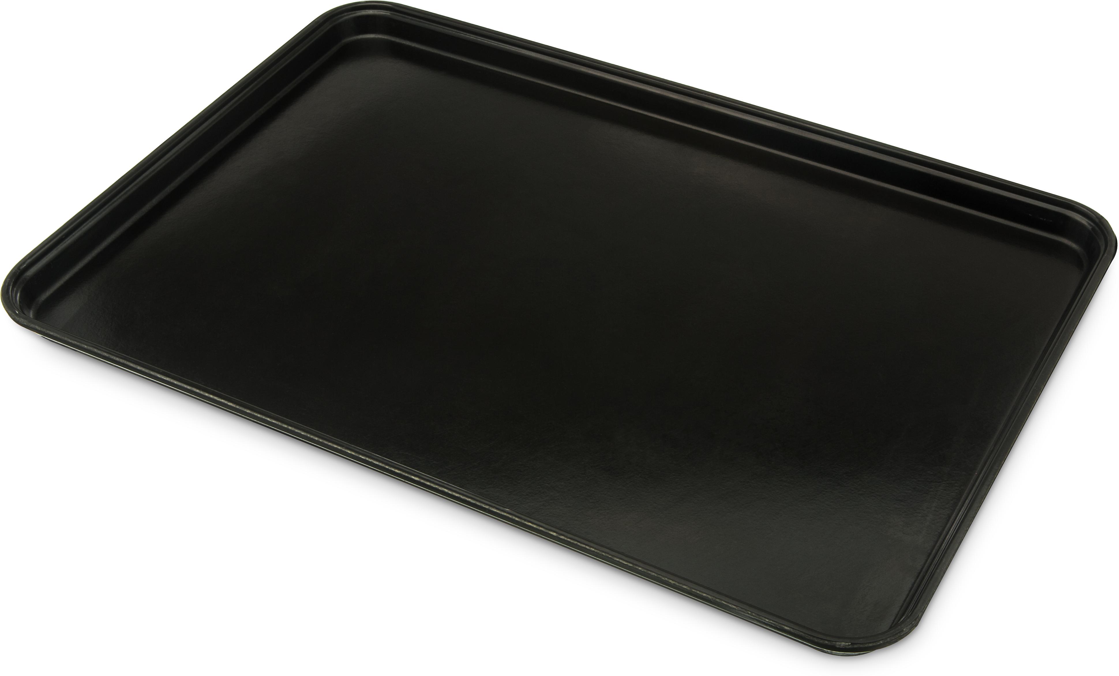 Glasteel Tray Display/Bakery 17.9 x 25.6 - Black