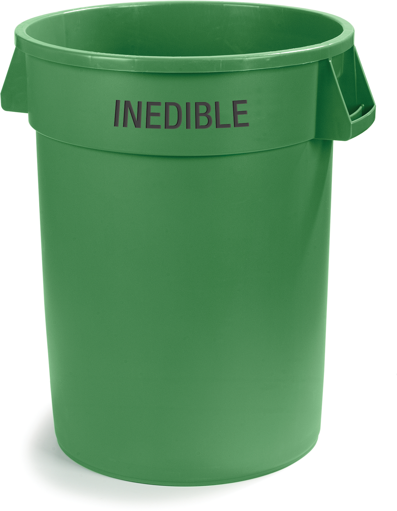 Bronco Round INEDIBLE Waste Container 32 Gallon - Green