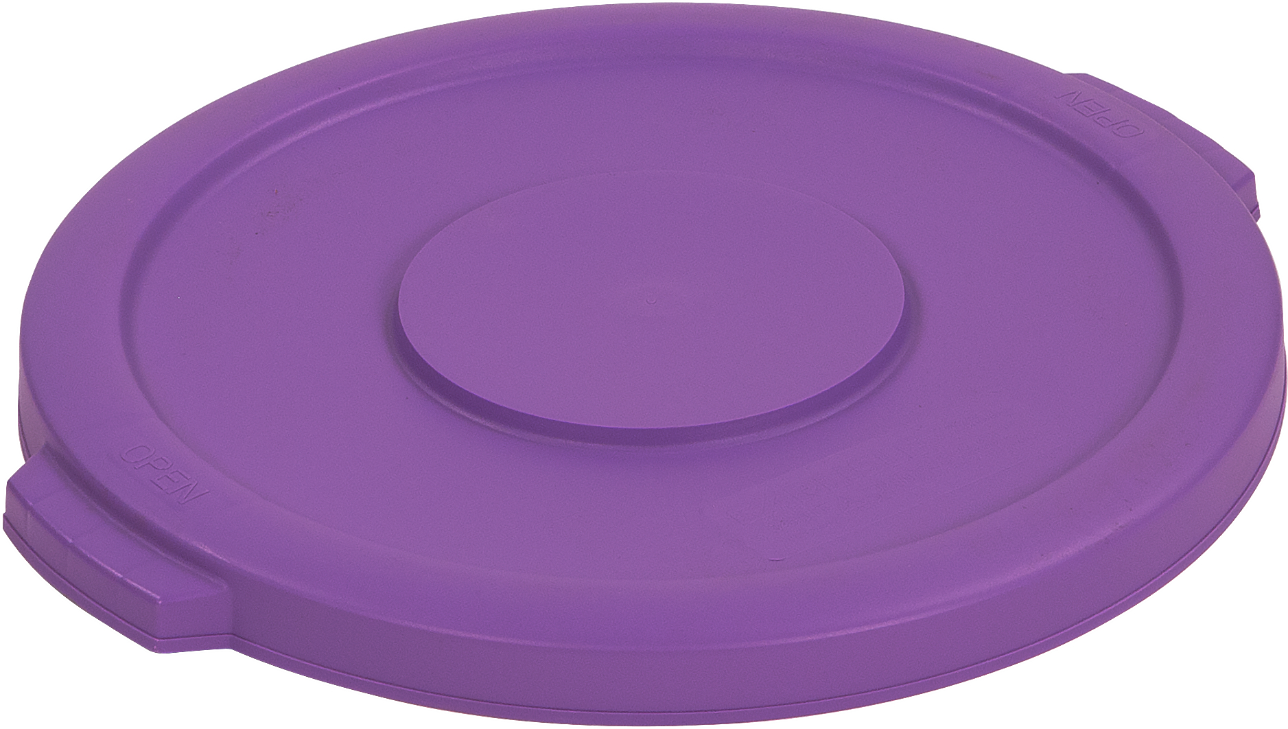 Bronco Round Waste Bin Food Container Lid 10 Gallon - Purple
