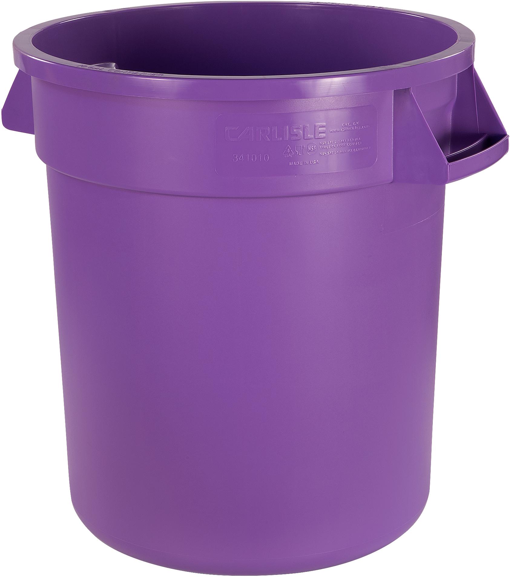 Bronco Round Waste Bin Food Container 10 Gallon - Purple
